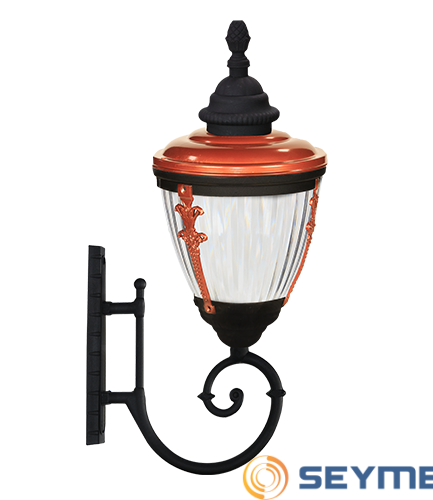 bahçe aydınlatma direği süslü çıtalı fener serisi-1500