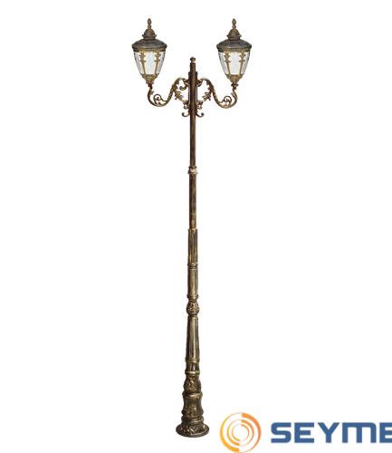 bahçe aydınlatma armatürü süslü çıtalı fener serisi-1510