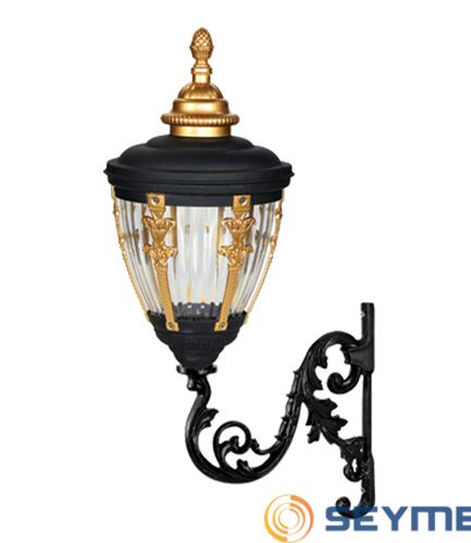 bahçe aydınlatma armatürü süslü çıtalı fener serisi-1511