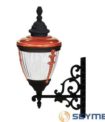 bahçe aydınlatma direği süslü çıtalı fener serisi-1505