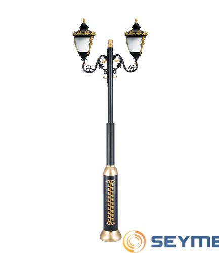 bahçe aydınlatma direği taçlı fener serisi-1513