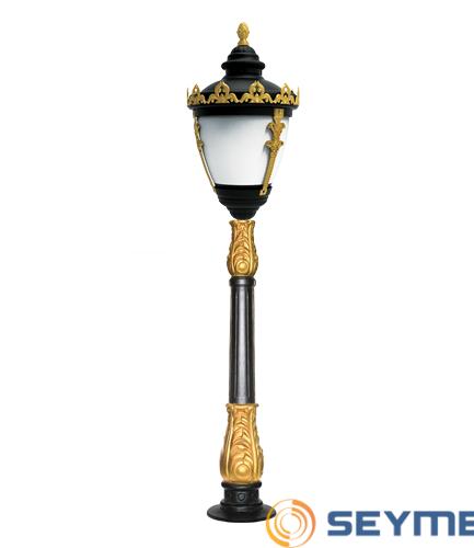bahçe aydınlatma direği taçlı fener serisi-1514