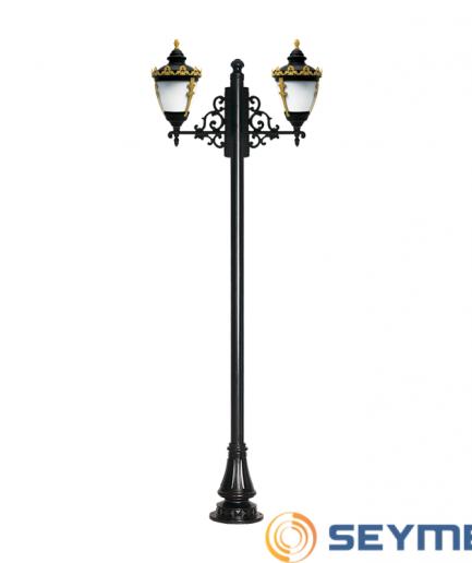 bahçe aydınlatma direği taçlı fener serisi-1517