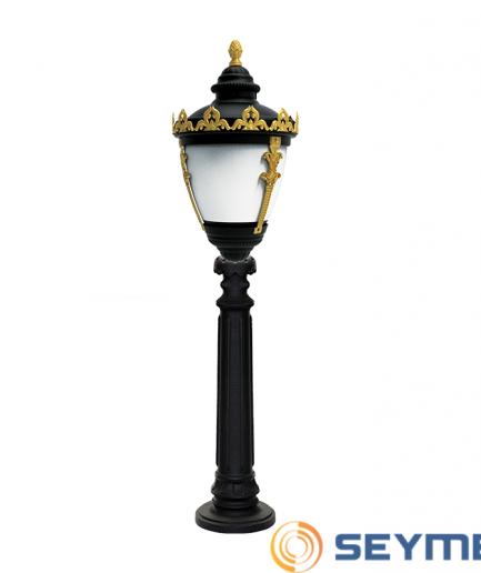 bahçe aydınlatma direği taçlı fener serisi-1519