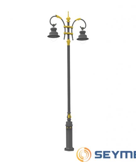 bahçe aydınlatma direği taçlı fener serisi-1520